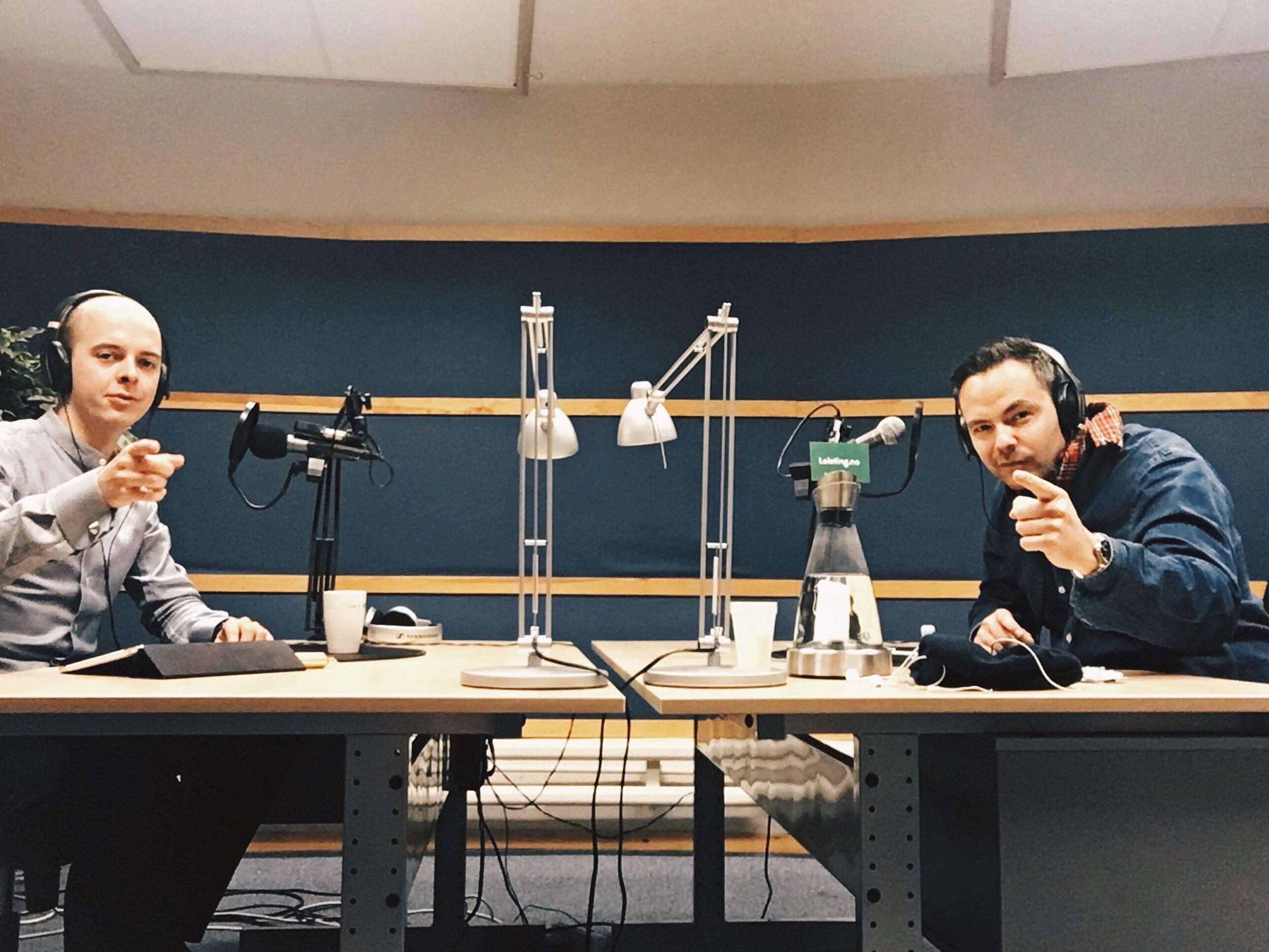 Bjørn og Christer i NRK Studio